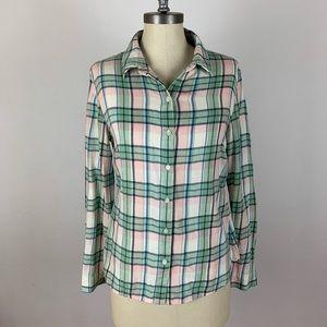 James Perse Plaid Button Down Shirt